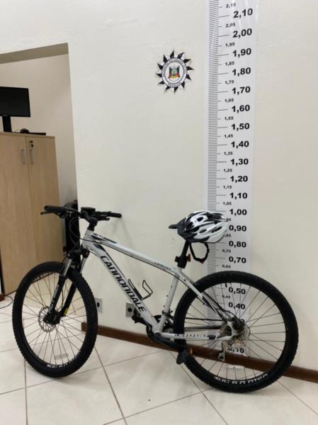 Bicicleta foi recuperada nesta manhã