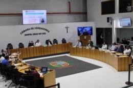 Vereadores aprovam projeto para divulgação de informações sobre obras públicas em Santa Cruz
